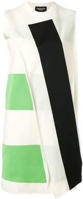 Calvin Klein asymmetric stripe dress