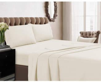 Tribeca Living 350 Thread Count Cotton Percale Extra Deep Pocket Cal King Sheet Set Bedding