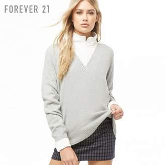 Forever 21 (フォーエバー 21) - Forever 21 Vネックブラッシュドセーター