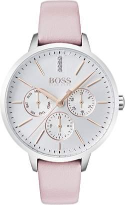 BOSS Symphony Leather Strap Watch, 38mm