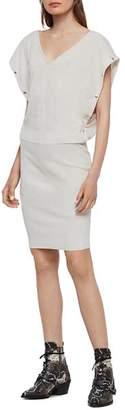 AllSaints Suri Snap-Sleeve Dress