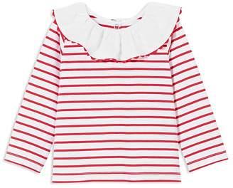 Jacadi Girls' Ruffled Sailor-Stripe Blouse - Baby