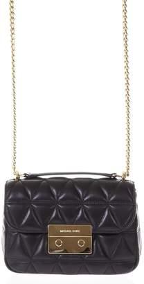 f373d1ca4a95 Adrienne Vittadini Black Chain Strap Quilted Duffel Bag Zulily