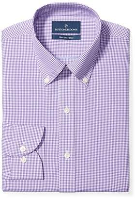 Buttoned Down Men's Slim Fit Button Collar Pattern