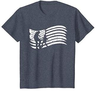 American Flag T-Shirt For Dad With Son Soccer Vintage Look