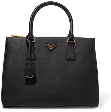 Prada - Galleria Large Textured-leather Tote - Black