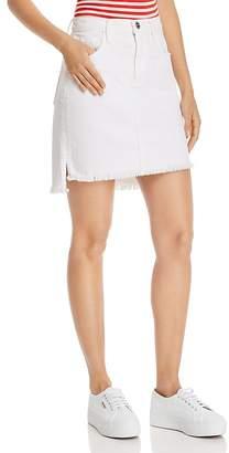 Current/Elliott Step-Hem Denim Mini Skirt