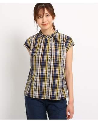 Dessin (デッサン) - Ladies [洗える]スタンドフリルブロードシャツ