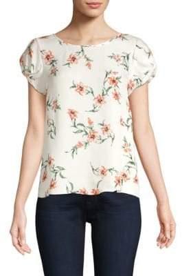 Joie Elline Floral Silk Blouse