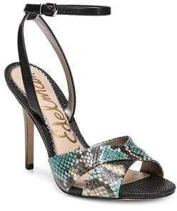 Sam Edelman Aly Snakeskin-Embossed Stiletto Leather Pumps