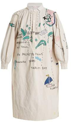 Kilometre Paris - Harbour Island Embroidered Linen Shirtdress - Womens - Multi