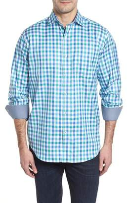 Bugatchi Classic Fit Gingham Check Sport Shirt