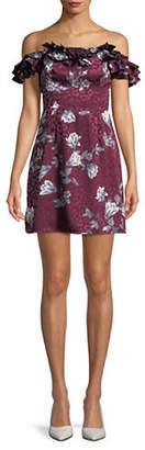 WAYF Gayle Off-the-Shoulder Mini Dress