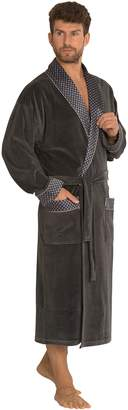 Forex Mens Classic Cotton Dressing Gown Housecoat Bathrobe Robe