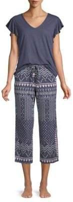 Natori Two-Piece Flutter-Sleeve Pajama Set