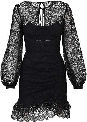Self-Portrait Self Portrait Mini Black Lace Dress