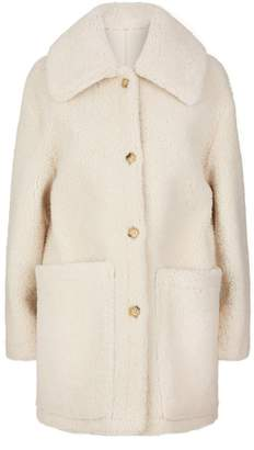Tory Burch Reversible Oliver Shearling Coat