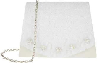Monsoon Pearly Flower Glitter Bag