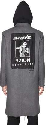 Diesel Noize Hooded Wool Cloth Coat