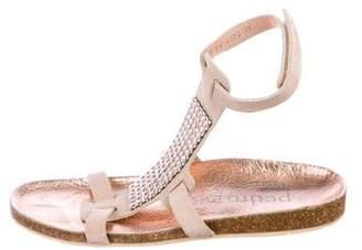 Pedro Garcia Crystal-Embellished Leather Sandals