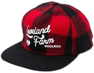 Woolrich check baseball cap