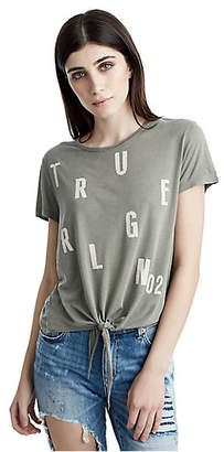 True Religion TIE FRONT GRAPHIC WOMENS TEE