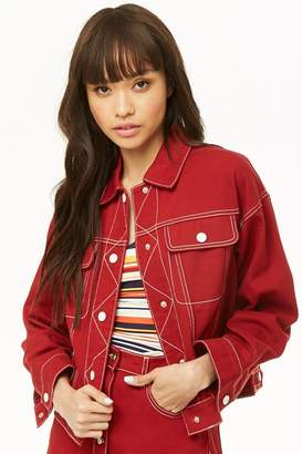 Forever 21 Top-Stitched Denim Jacket
