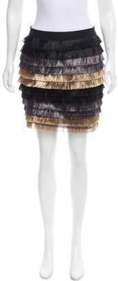 BCBGMAXAZRIA Christal Fringe Skirt