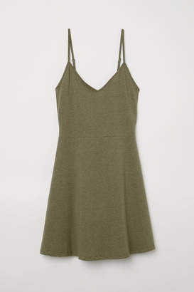 H&M Short Jersey Dress - Green
