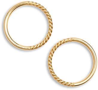 Argentovivo Rope Frontal Hoop Earrings