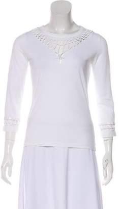 Jean Paul Gaultier Soleil Open Knit Long Sleeve Top