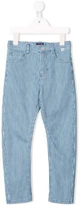 Il Gufo striped slim-fit trousers