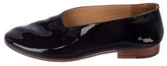Martiniano Patent Leather Round-Toe Flats