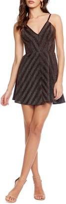 Dress the Population Cosmopolitan Trista Metallic Detail Fit & Flare Minidress