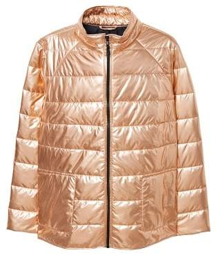 Violeta BY MANGO Metallic puffer jacket