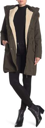 Joules Windfield Waterproof Faux Fur Trim Jacket & Vest 2-Piece Set