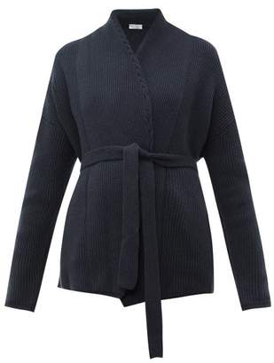 Brunello Cucinelli Belted Cashmere Cardigan - Womens - Dark Blue