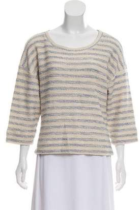 L'Agence Crew Neck Knit Top