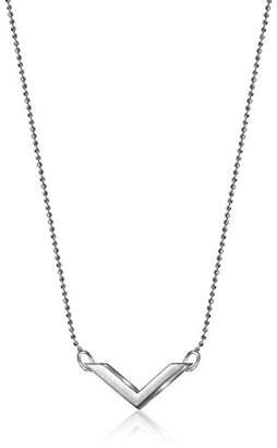 Alex Woo Elements Sterling Chevron Pendant Necklace