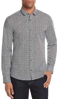 HUGO Ero Pattern Slim Fit Button-Down Shirt