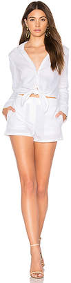 Theory Ranay Romper in White $396 thestylecure.com