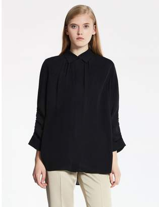 Calvin Klein heavy silk georgette 3/4 sleeve top