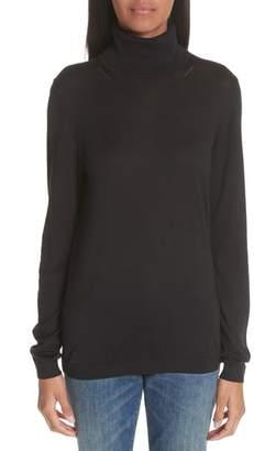 Burberry Kisco Silk & Cashmere Turtleneck Sweater