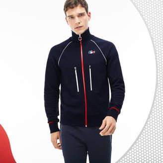 Lacoste Men's French Sporting Spirit Edition Zippered Fleece Sweatshirt