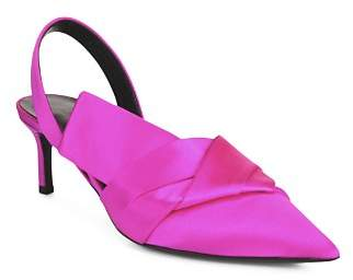 Via Spiga Women's Elisha Satin Kitten Heel Slingback Pumps