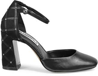 Karl Lagerfeld Paris Embellished Ankle Strap Pumps