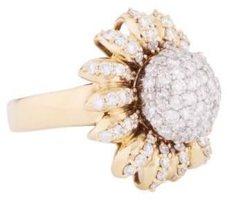 Ring Pavé Diamond Sunflower