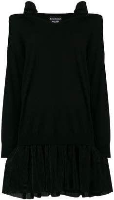 Moschino cold shoulder tulle skirted sweater dress