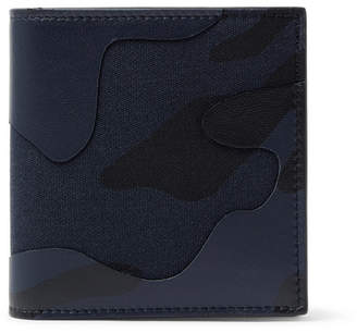 Valentino Garavani Camouflage-Print Leather and Canvas Wallet - Men - Blue