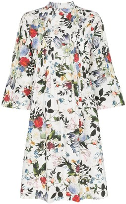 Erdem Reagan floral print pleated dress